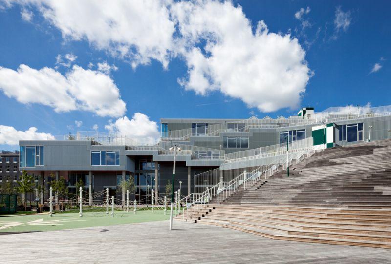 Sydhavnen-schoolgebouw verbindt Kopenhagen met zijn haven