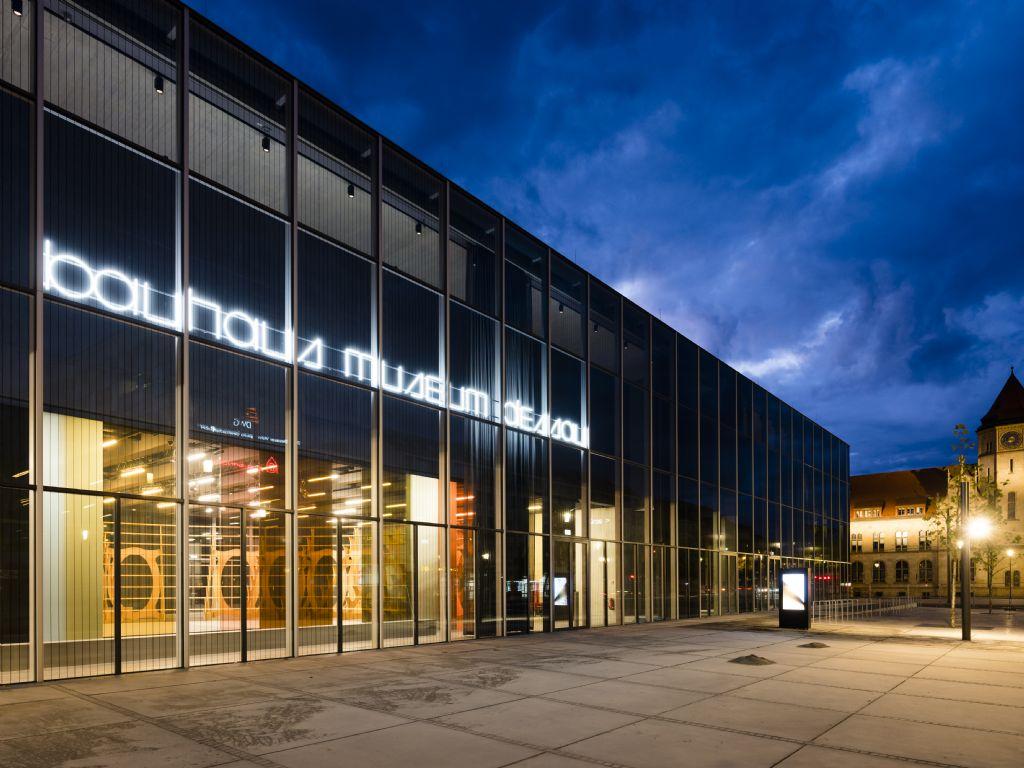 Bauhaus Museum Dessau by night
