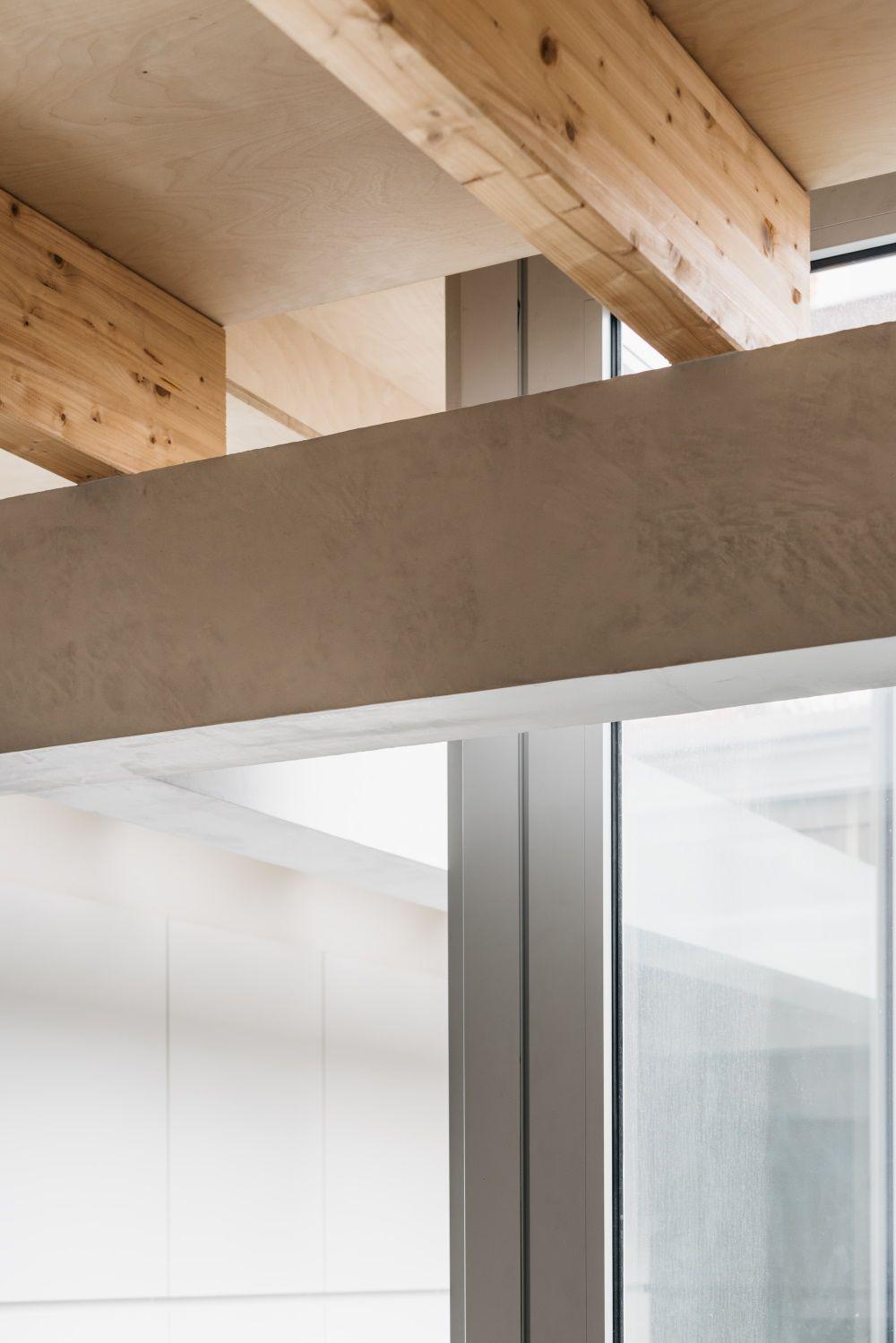 Detail balkenconstructie