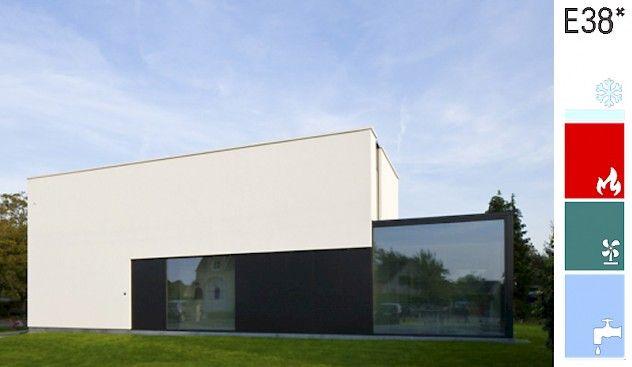 Woning in Keerbergen dat aan de BEN-eisen voldoet. Architect: Niko Wauters - Keerbergen. EPB-verslaggever: Gert Christiaensen - Heist-op-den-Berg