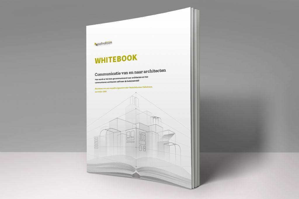 Whitebook architectura.be en Redactiebureau Palindroom brengt communicatievoorkeur van architecten in beeld
