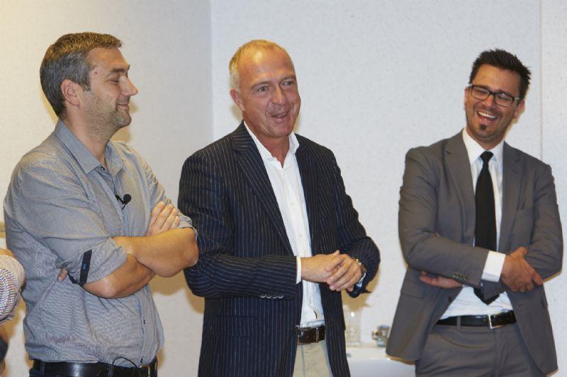 Van links naar rechts: Nic Maes, Herman Verwimp en Ben Lambrechts
