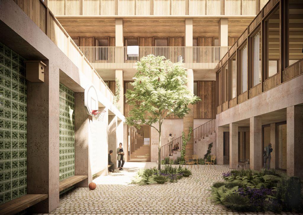 BOGDAN & VAN BROECK en BC architects & studies ontwerpen een geïntegreerd onthaalcentrum voor drugsgebruikers in Brussel