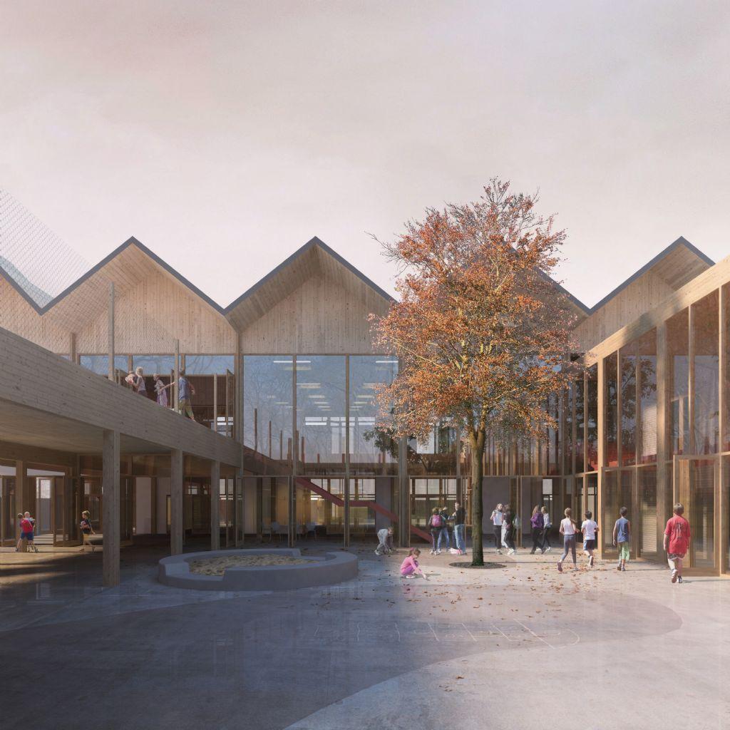 a2o architecten wint ontwerpwedstrijd basisschool De Schatkist in Haren samen met Ney & Partners en boydens engineering