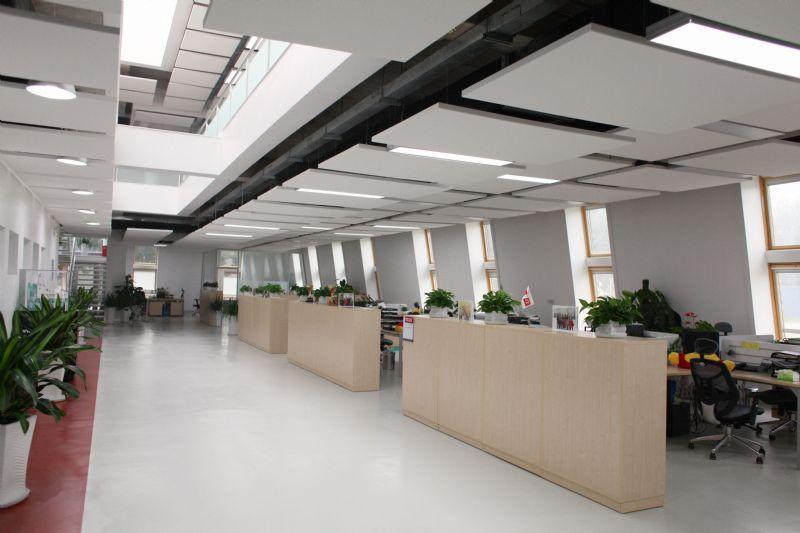 Wolken als inspiratiebron voor plafond kantoor Velux in Beijing