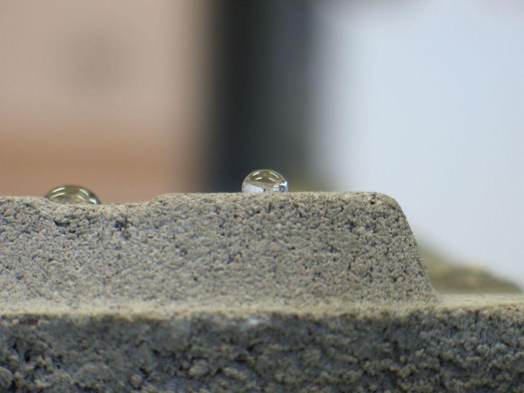 Bescherming van beton door hydrofuge