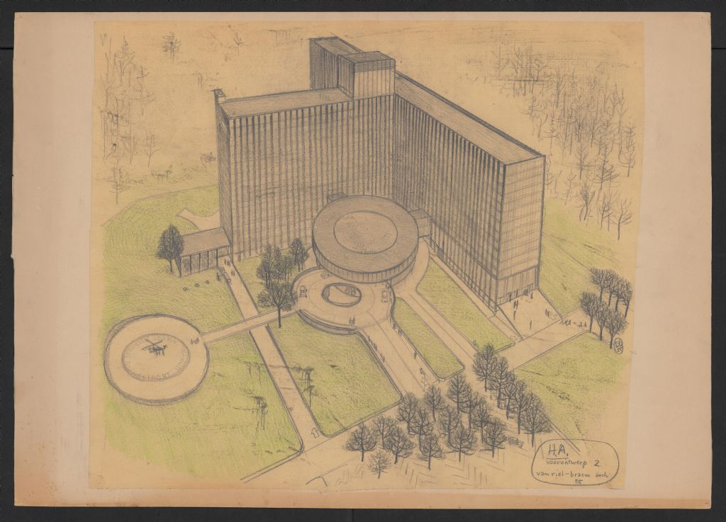 Tentoonstelling 50 jaar Middelheimziekenhuis toont unieke tekeningen Renaat Braem