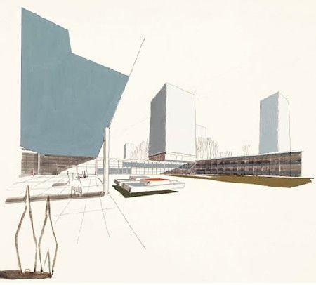 Een tekening die Lou Jansen in 1957 maakte als student aan het Brusselse Sint-Lucas.