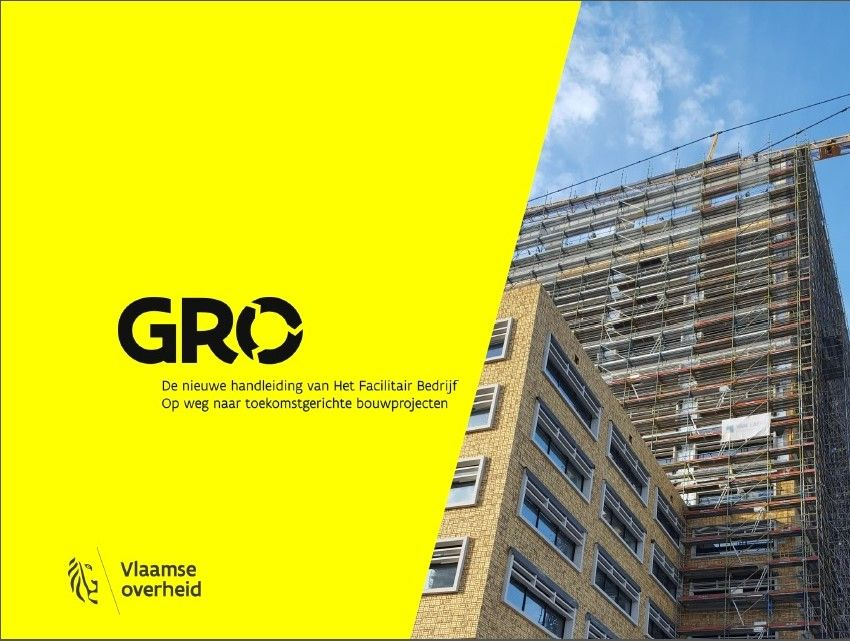 Het GRO is een nieuwe duurzaamheidsmeter die het Facilitair Bedrijf voortaan hanteert bij alle bouwprojecten, ongeacht hun schaal en functie. (Beeld: Vlaamse overheid)