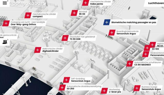 De 360° City App – de 3D-wereld van dormakaba