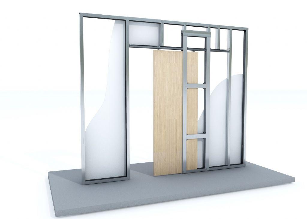 Une porte coulissante dans une cloison en plaques de plâtre ? Un jeu d'enfant !