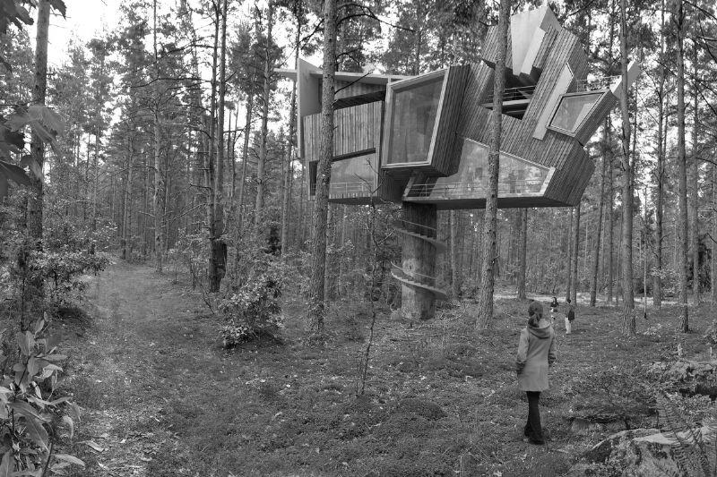 Een ontwerp van Inter-Action, waar González de natuur verweeft met architectuur.