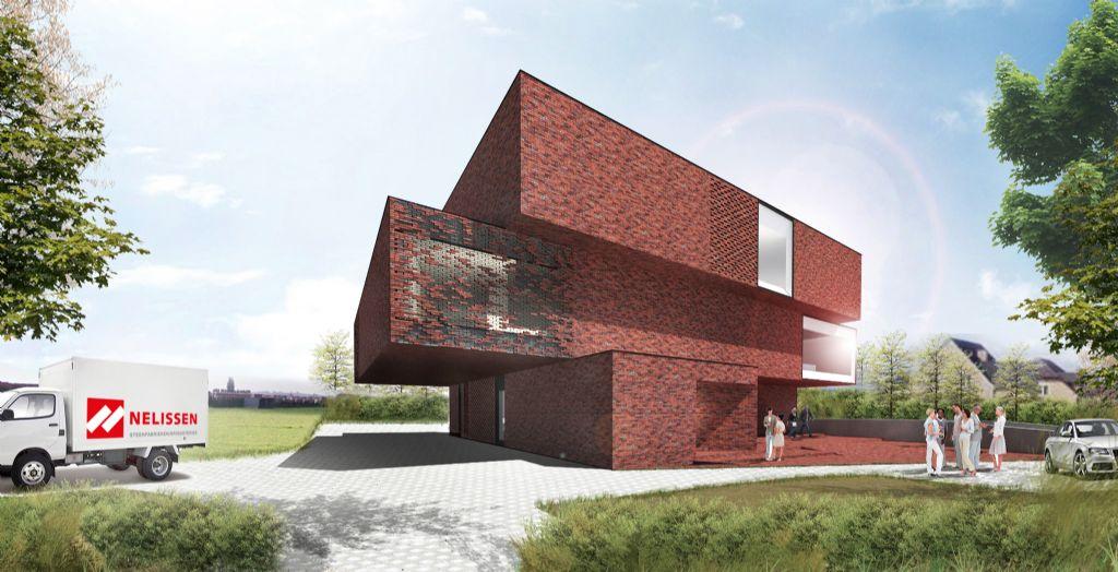Om innovatie de boventoon te laten voeren in het ontwerp, stapten Architectengroep PSK en UAU Collectiv onmiddellijk af van het idee van een klassiek kantoorgebouw of een standaard showroom.