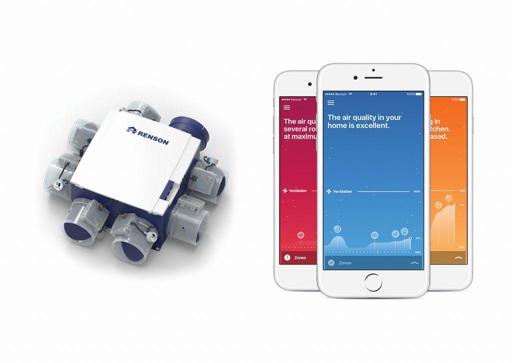 Renson Healthbox 3.0 met bijhorende applicatie