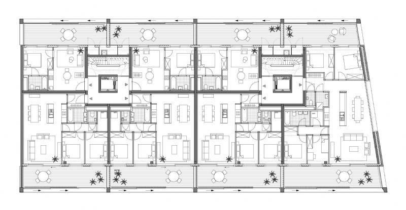 er worden 32 appartementen gebouwd.