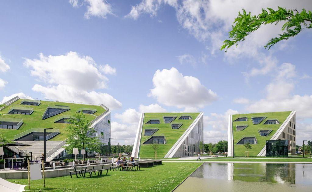 Campus Corda, een grasgroen architecturaal hoogstandje in Hasselt