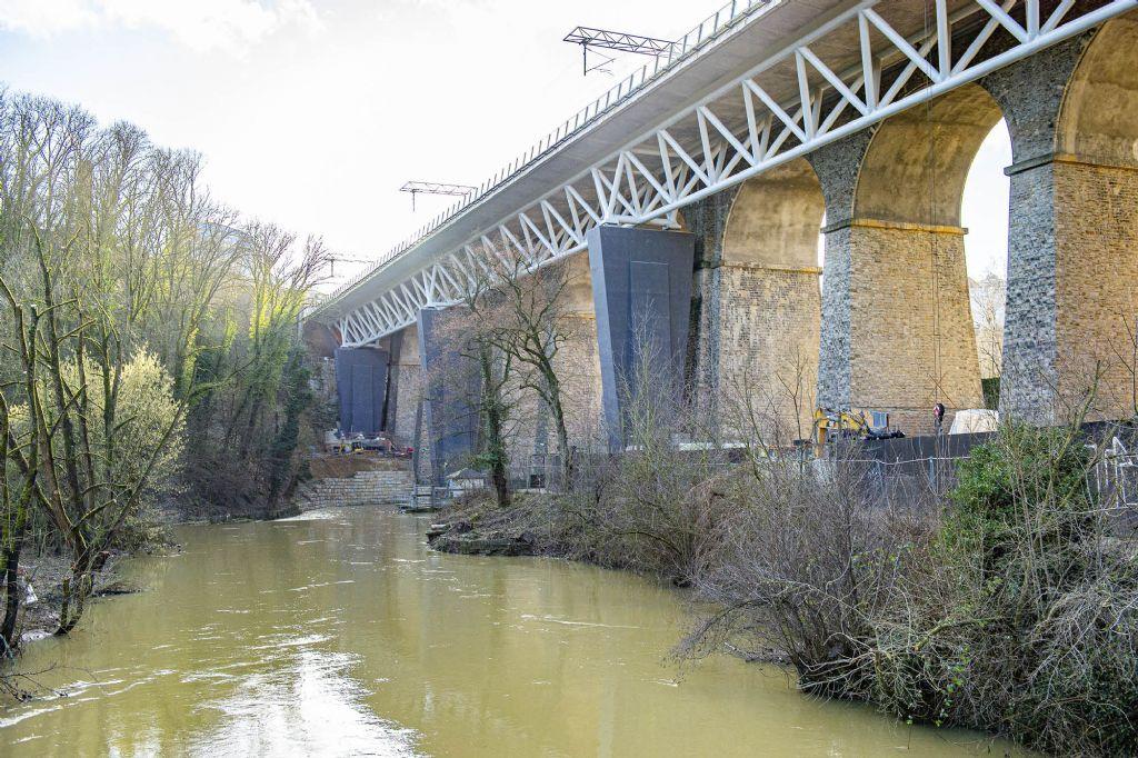 Uitbreiding viaduct van Pulvermühle, laureaat GH Luxemburg.