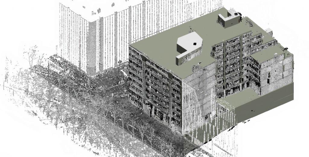 SCAN to BIM als vertrekpunt voor vernieuwing kantoorgebouw in Brusselse Noordwijk