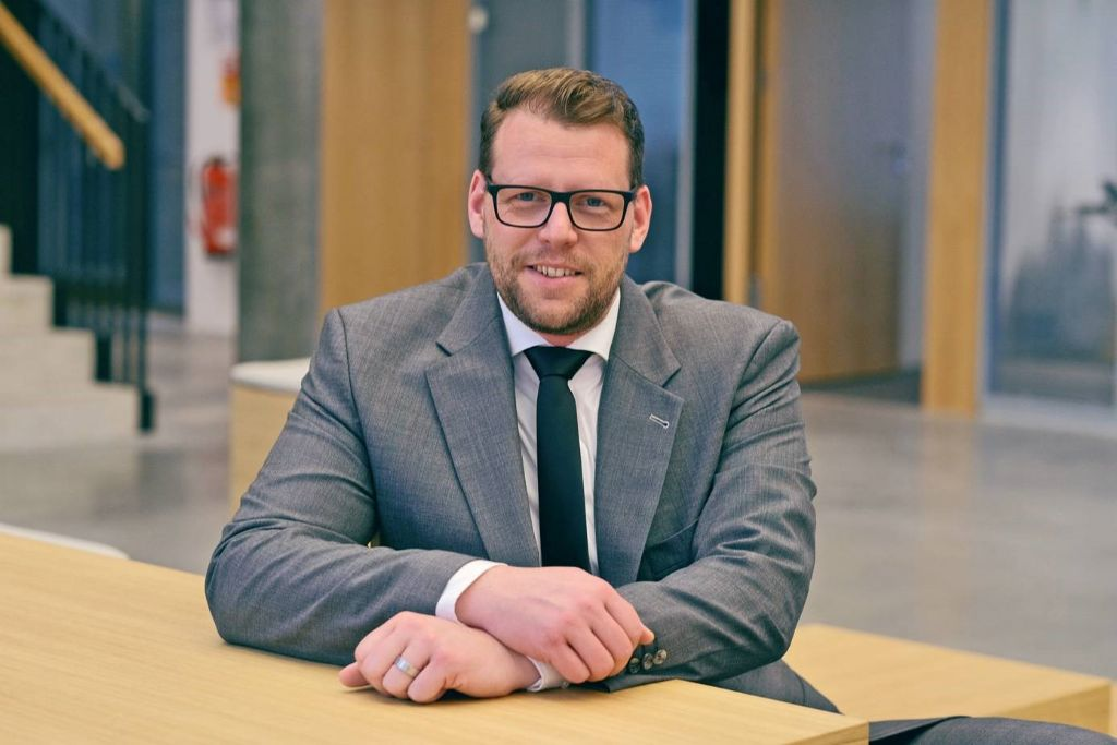 Marcel Füser, technisch manager van de afdeling 'Nieuwe Projecten' bij Wohnstätte Krefeld AG.