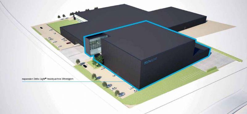 Het nieuwe perceel is 8000m² groot.