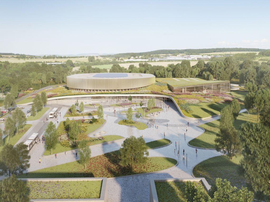 Mecanoo en Metaform ontwerpen velodroom en sportcomplex in Luxemburg