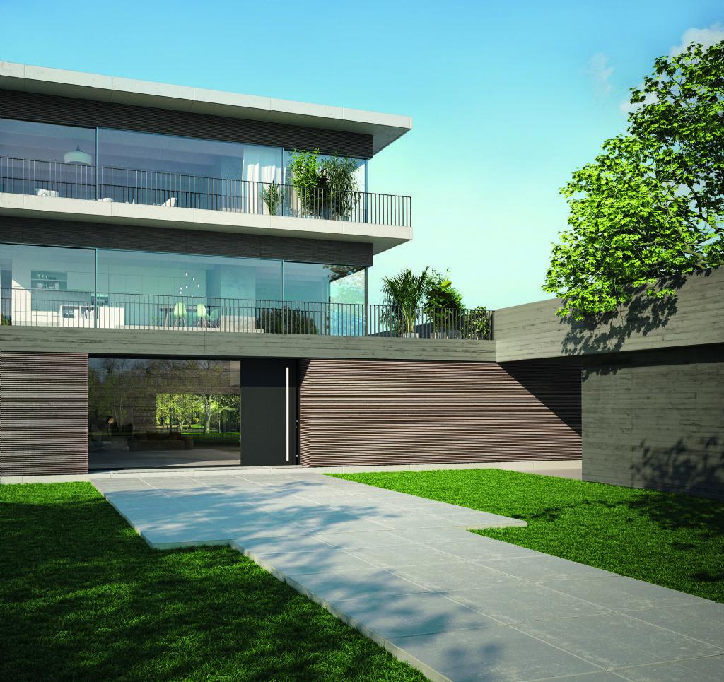 Schüco toont aluminium huisdeur ADS 90.SI SimplySmart Design Edition op BATIBOUW