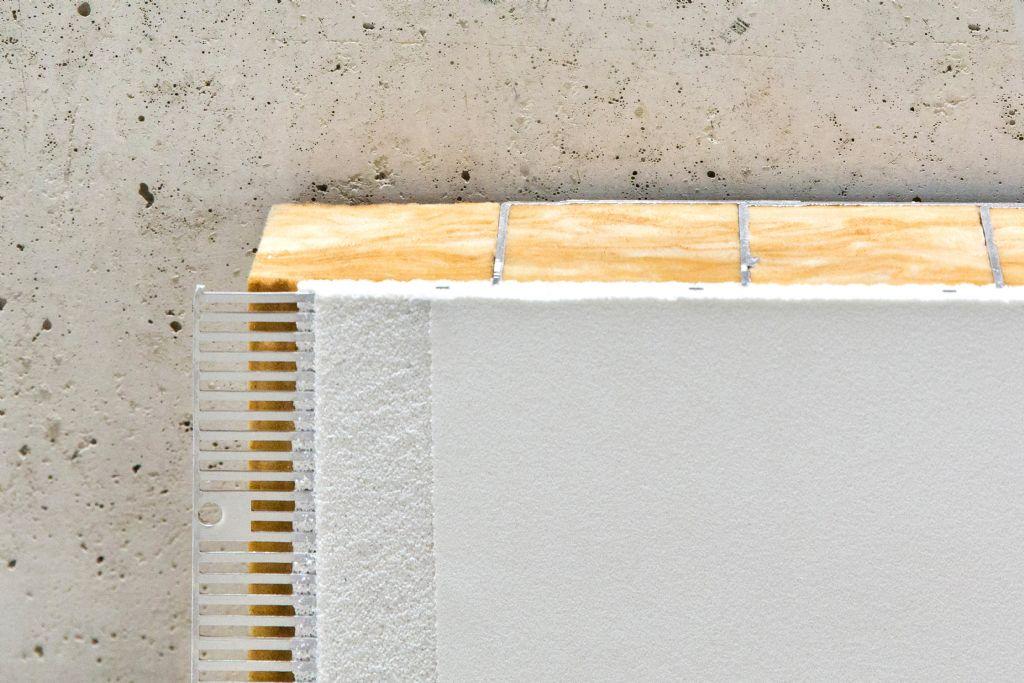 Ultra gladde akoestische pleister voor betonkernactivering