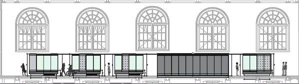 Scenograaf Niek Kortenkaas heeft de basis gelegd voor de scenografie van de permanente opstelling. De scenografie is bescheiden en zorgt ervoor dat het originele interieur zichtbaar blijft.