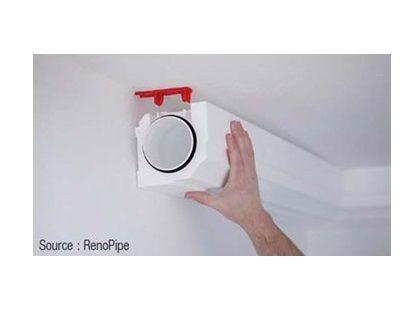 Conduits de ventilation sous forme de moulure d'angle