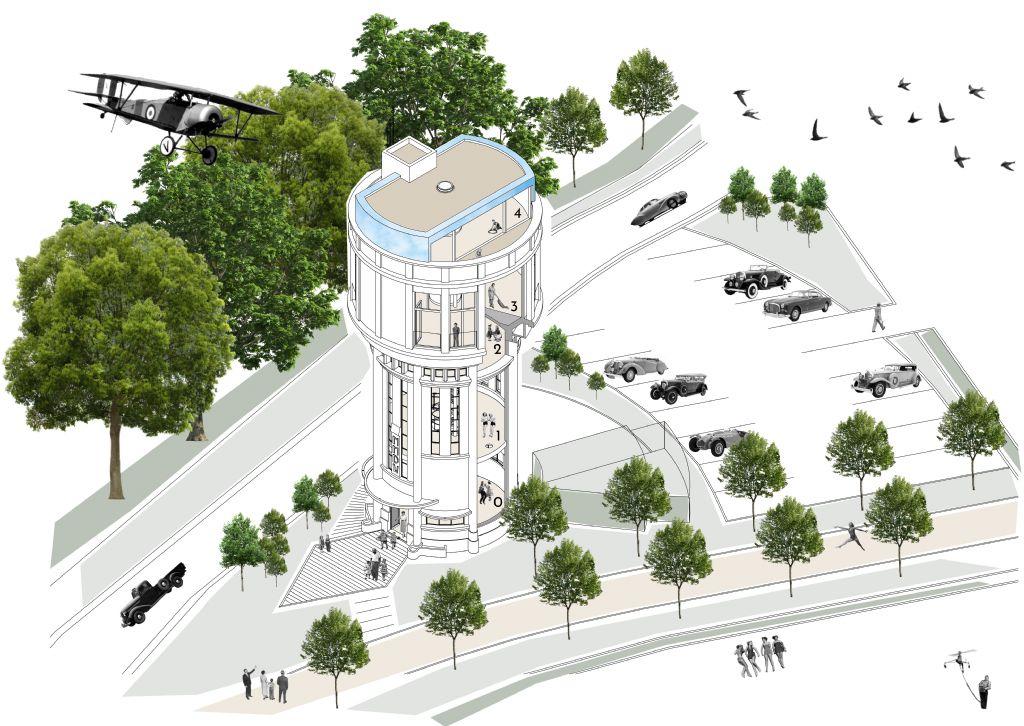 Herbestemming iconische watertoren van Bree gaat van start (Architectenbureau Kanaal Zuid)