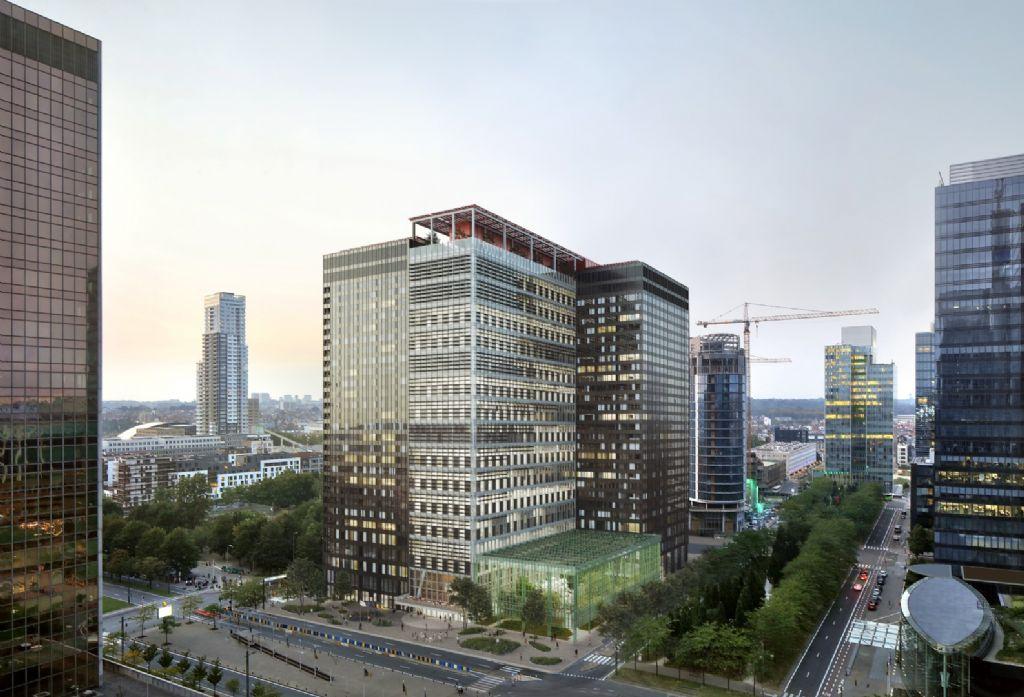 ZIN (rénovation et transformation des tours WTC), un des lauréats de la catégorie 'Grands projets privés'.