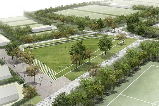 Het ontwerpvoorstel focust op de voegen en kamers binnen het bestaande masterplan.