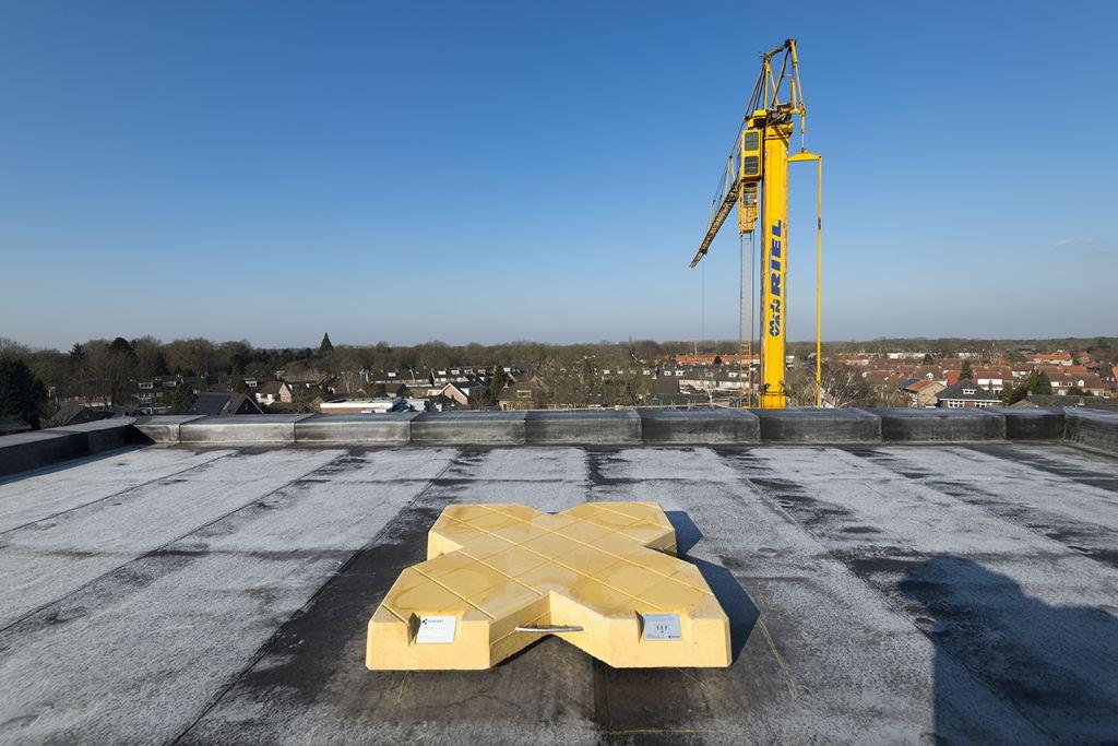 Valbeveiliging zonder doorbreking van het dak