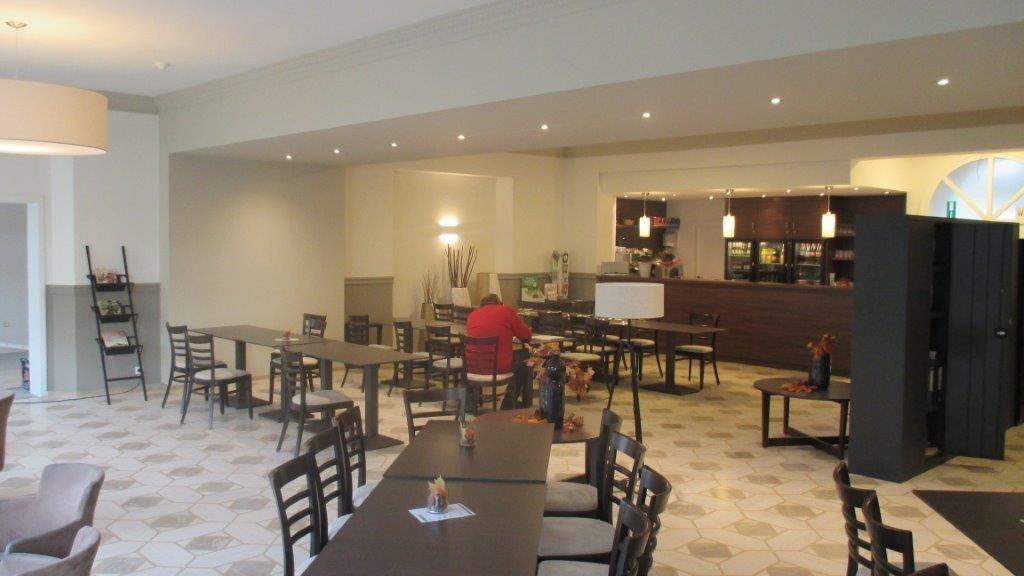 Het vroegere ontbijtkwartier is tegenwoordig een 'Grand Café'.