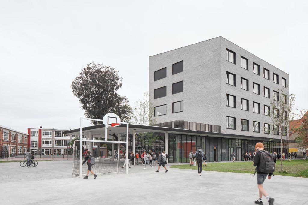Abscis Architecten drukt stempel op stadscampus voor nieuwe scholengroep in Lokeren