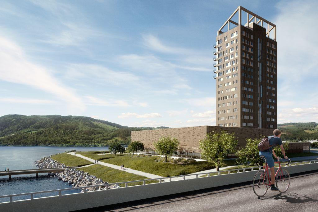 Hoogste houten gebouw ter wereld verrijst in Noorwegen