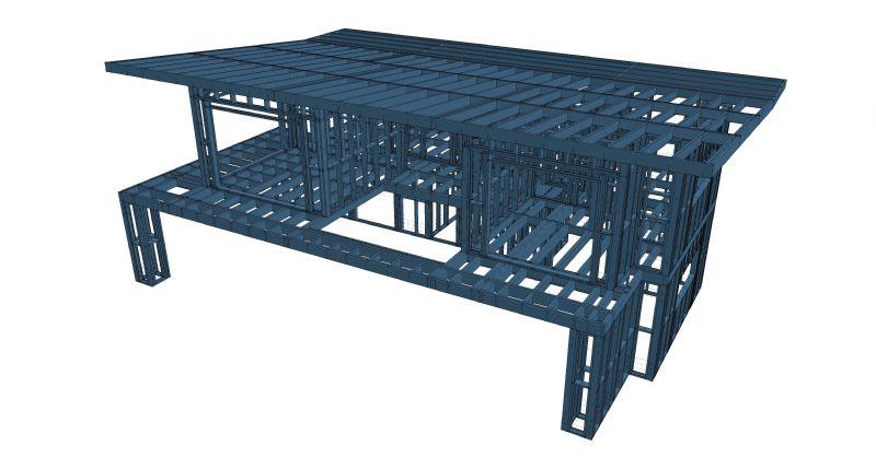 beSteel stelt op Batibouw staalskelet met koudgevormde profielen voor