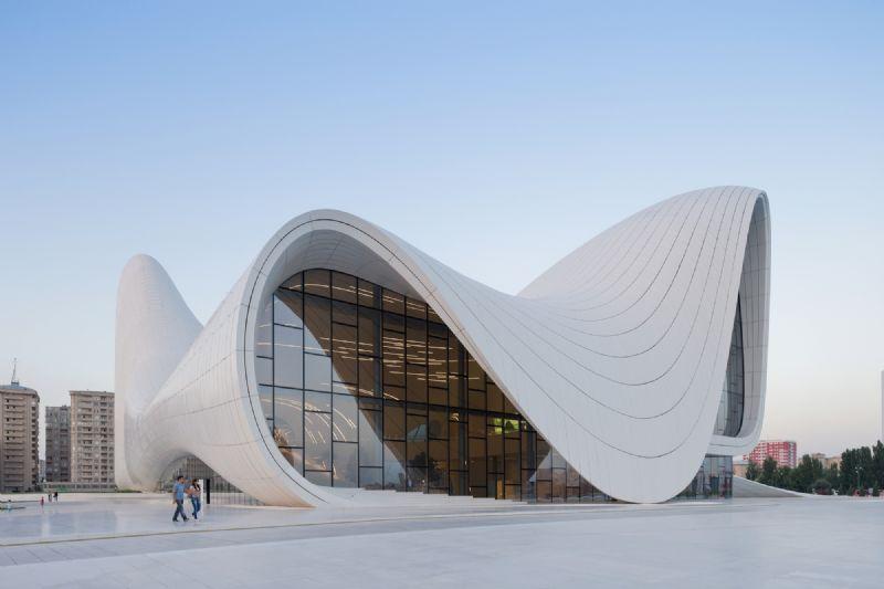 Het cultureel centrum in Bakoe, Azerbeidzjan.