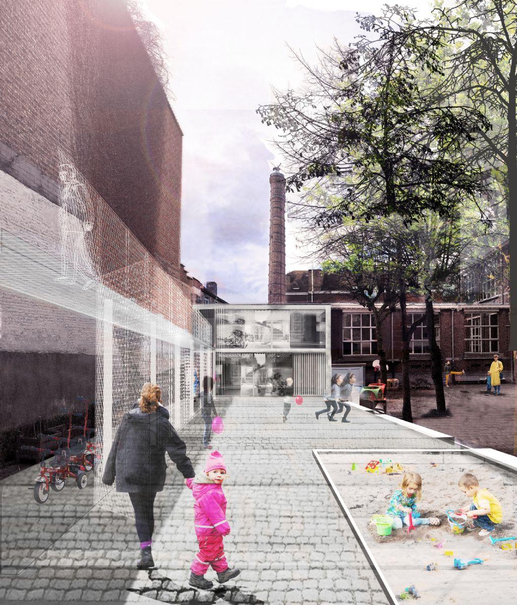 MAKER architecten en Gutiérrez-delaFuente ontwerpen 9 woningen met circulaire insteek in Marollen
