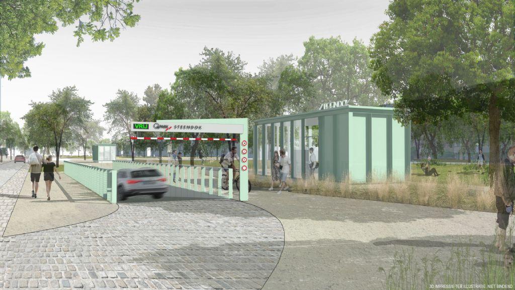 Eerste ondergrondse parking Gedempte Zuiderdokken klaar voor gebruik (Abscis Architecten + MH1 architecten)