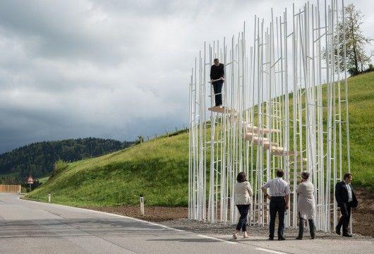 Oostenrijks dorpje laat bushokjes maken door sterarchitecten