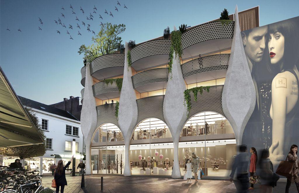 The Mill van MaMu Architecten vormt baken aan Molenpoortplein in Hasselt