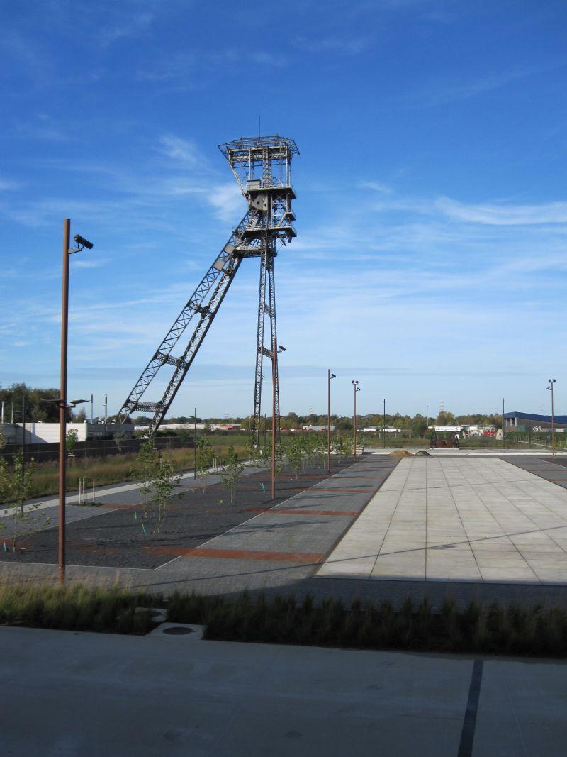 De Cleantechcampus in Houthalen-Helchteren, een voormalige mijnsite die omgebouwd wordt tot een bedrijventerrein voor jonge kmo's die inzetten op innovatieve, milieuvriendelijke technologieën.
