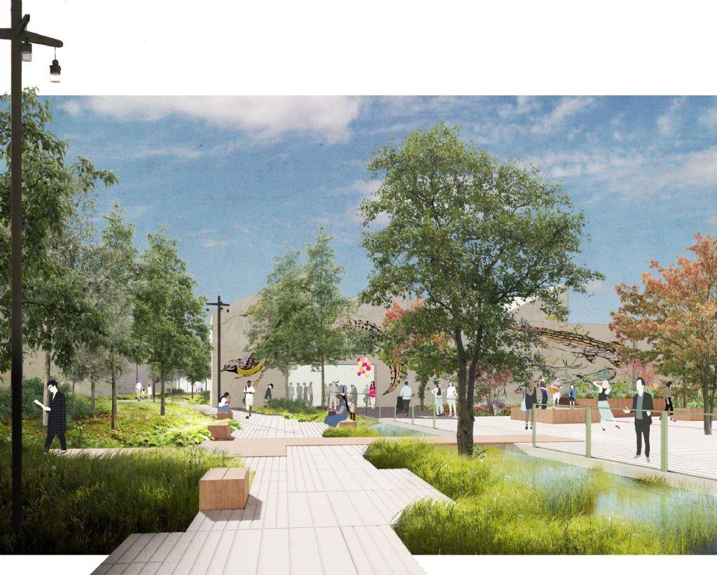 BRUT en OKRA landschapsarchitecten geven Heyvaertwijk in Molenbeek een groene promenade