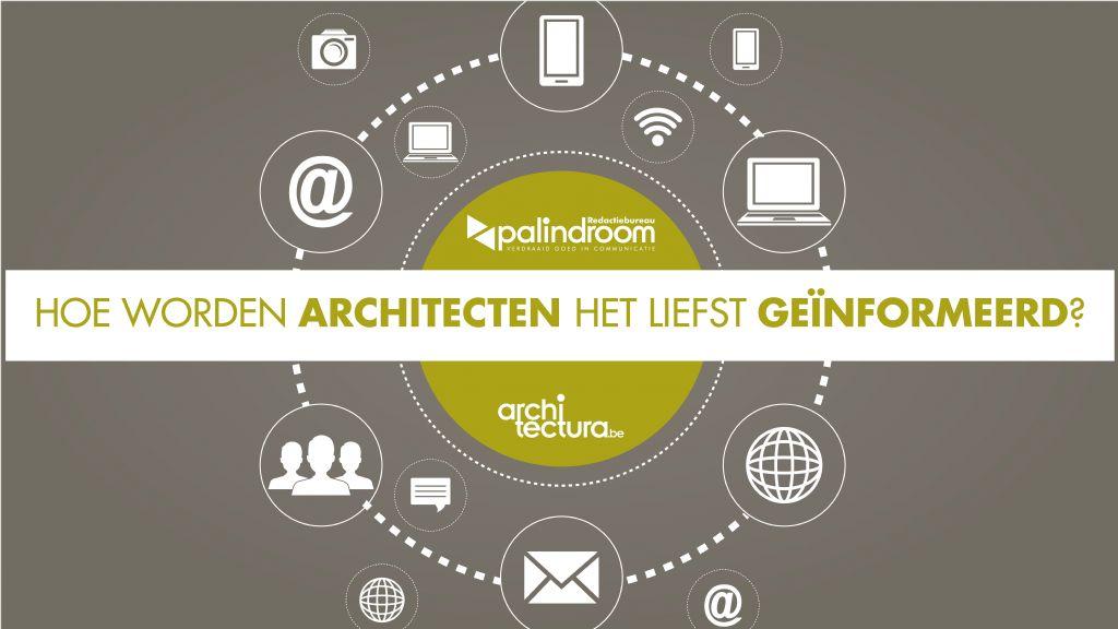 Hoe worden architecten het liefst geïnformeerd?