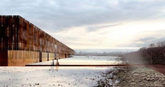 Crematorium Hofheide is de tweede halte van deze bouwkundige rondreis en werd ontworpen door Coussée en Goris in samenwerking met het Spaanse RCR Arquitectes van Rafael Aranda, Carme Pigem en Ramon Vilalta.