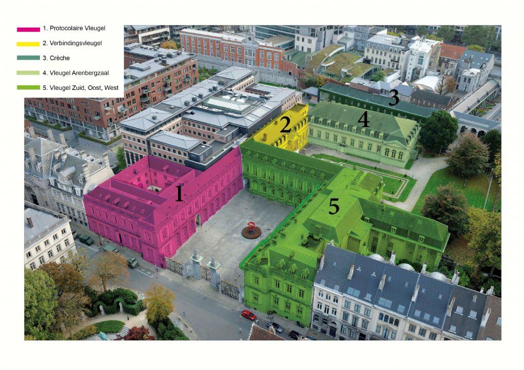 Regie der Gebouwen start met renovatie van de daken van het Egmontpaleis in Brussel