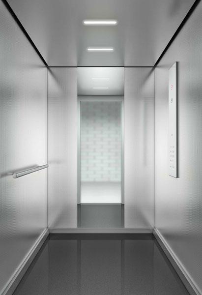 Liften met de TSD-veiligheidsfunctie bieden architecten een grotere ontwerp- en inrichtingsvrijheid doordat ze de bouw van storende uitstulpsels in het verlengde van een liftschacht sterk kunnen beperken.