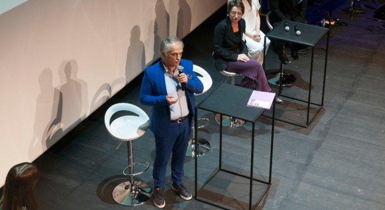 Robert Treselj à la proclamation du Grand Prix d'Architecture de Wallonie 2019.