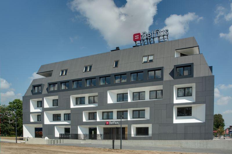 Opfrissing Belfiuskantoor door Abscis Architecten
